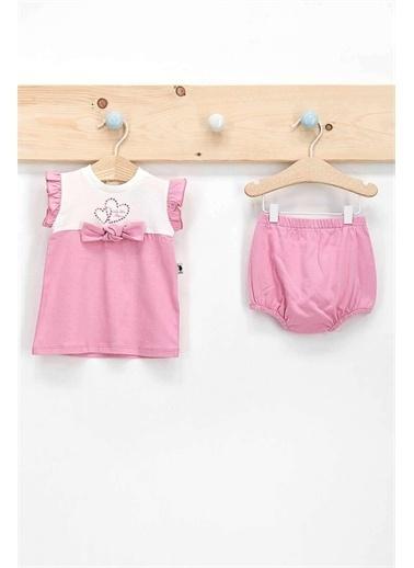 U.S. Polo Assn. Lisanslı Ribbon Krem Kız Bebek 2'Li Elbise Takım Krem